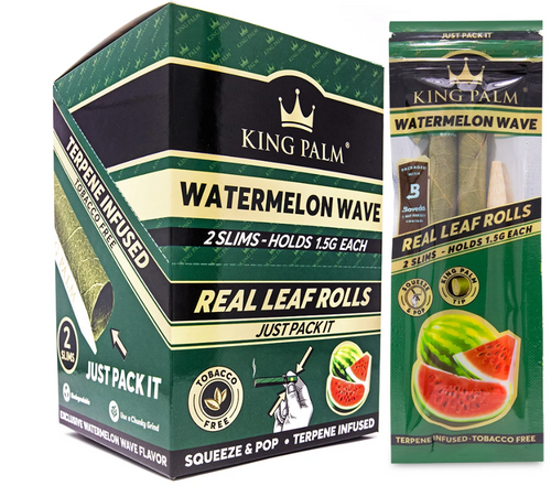 King Palm Wraps Slim Watermelon Wave 20Ct/2