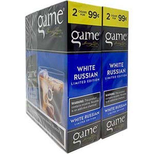 Game Cigarillos Foil White Russian 30 Pouches of 2