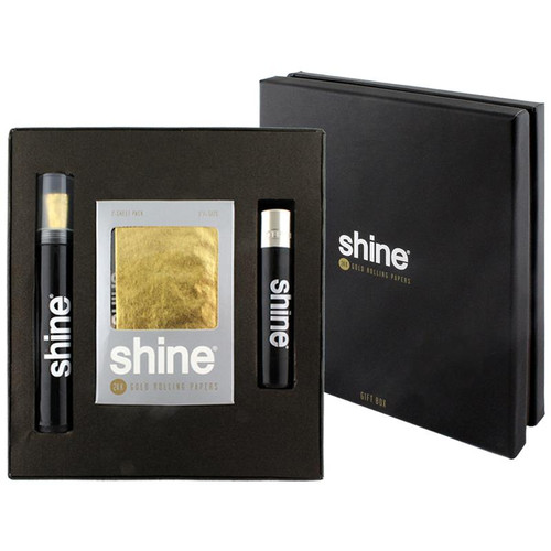 Shine 24K Gold Rolling Paper Gift Box