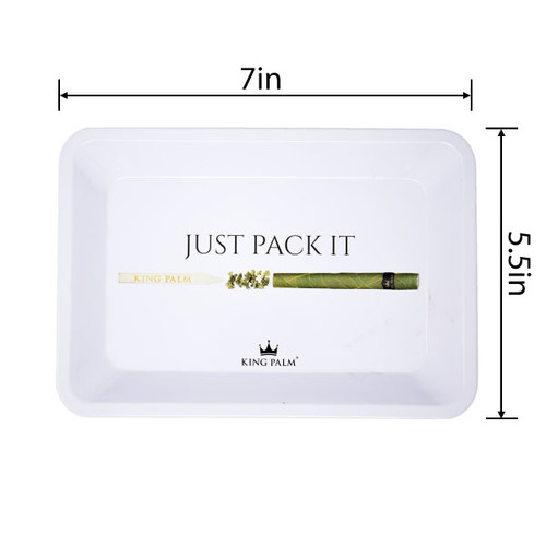 King Palm Rolling Rolling Tray Small- Just Pack It