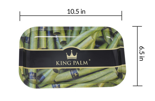 King Palm Rolling Tray Medium- Royal