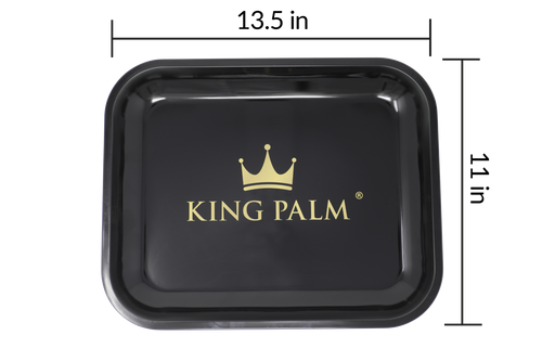King Palm Rolling Tray Medium- Black