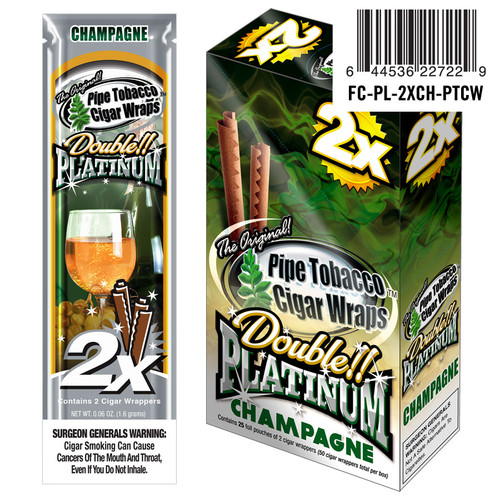 Double Platinum Blunt Wraps Champagne 25/2 Ct