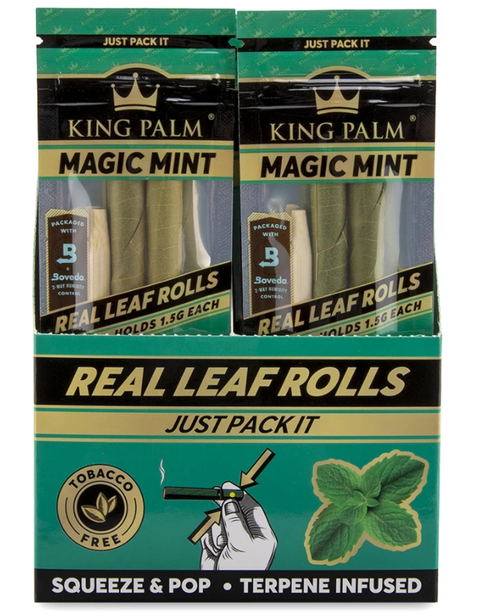 King Palm Wraps Slim Magic Mint 20Ct/2