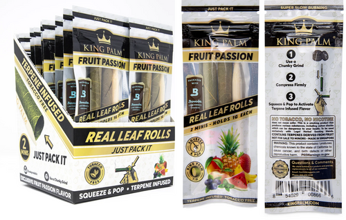 King Palm Wraps Mini Fruit Passion 20Ct/2