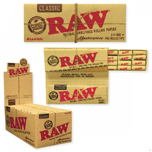 Raw Classic Masterpiece King Size Slim + Pre-Rolled Tips