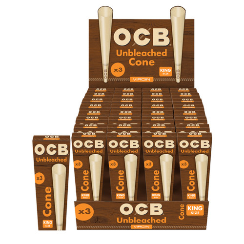 OCB Unbleached Cones Display