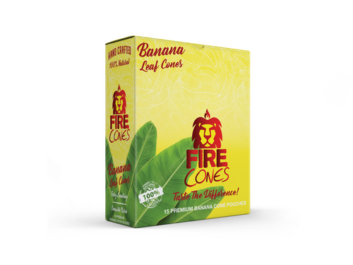 Fire Banana Leaf Cones 15/2 Ct