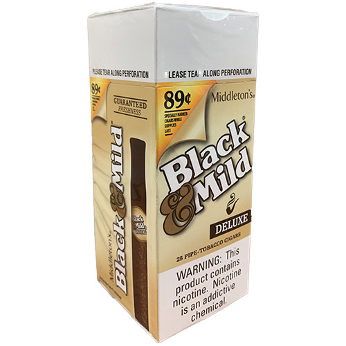 Black & Mild Deluxe Wood Tip Cigars Box