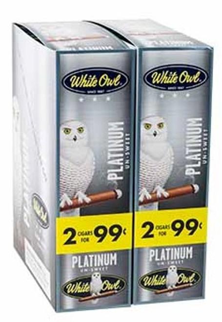 White Owl Cigarillos Platinum 30 Pouches of 2