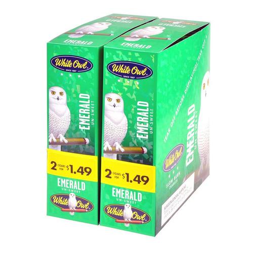 White Owl Cigarillos Emerald 30 Pouches of 2