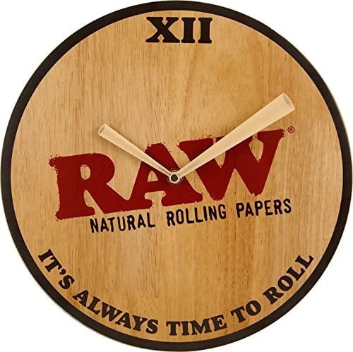 RAW Papers Wood Wall Clock