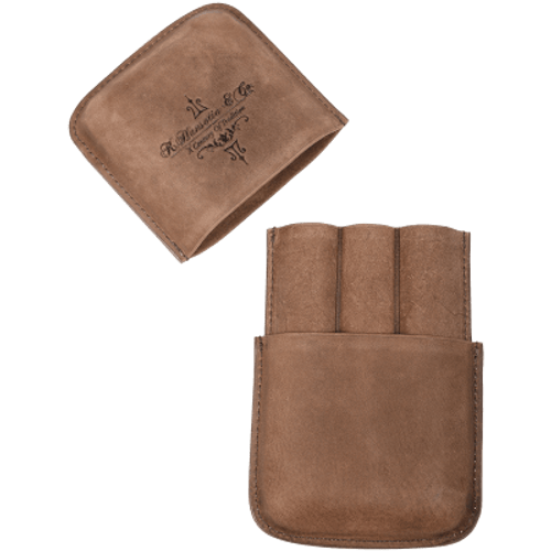 Gurkha Cigars Leather Case Holds 3 -Brown