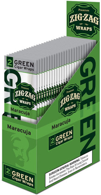 Zig Zag Premium Wraps Maracuja 25 Packs of 2