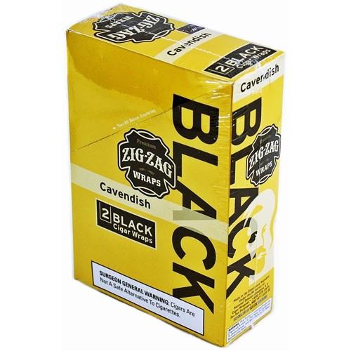Zig Zag Black Premium Wraps Cavendish 25 Packs of 2
