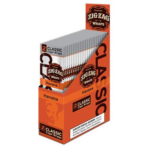 Zig Zag Premium Wraps Havana 25 Packs of 2