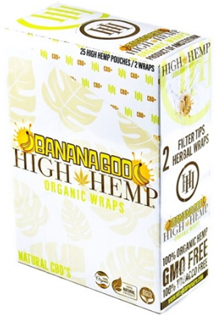 High Hemp Organic Wraps Bananagoo 25Ct/2