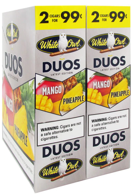 White Owl Cigarillos Duos Mango Pineapple 30/2