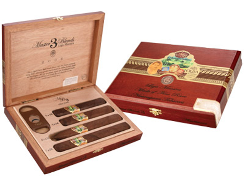 Master Blends by Oliva Cigar Sampler With Cutter 4 Ct. Box