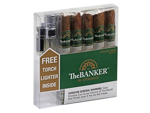 H. Upmann The Banker Annuity W/ Torch Lighter 5 Ct. Box 6.00X52