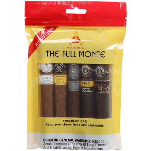 Montecristo The Full Monte Freshloc bag 5 Ct Cigar Sampler