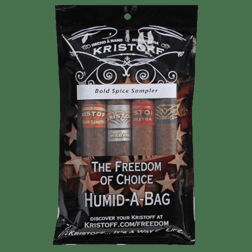 Kristoff Bold Spice Humidibag 4 Ct. Cigar Sampler Pack