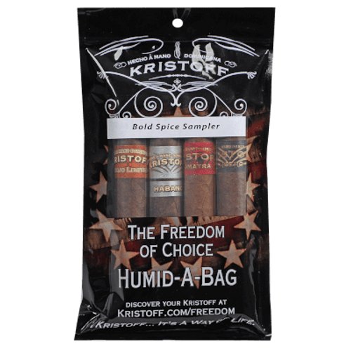 Kristoff Bold Spice Humidibag 4 Ct. Cigar Sampler Pack