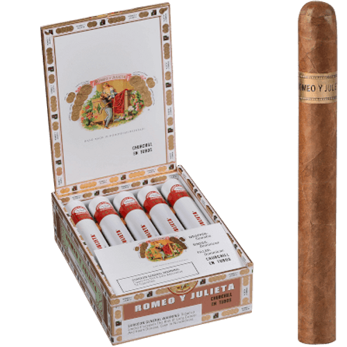Romeo Y Julieta 1875 Churchill Tubos EMS 10 Ct. Box