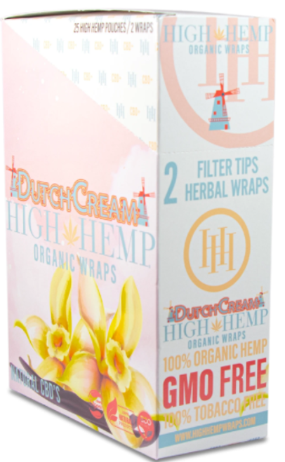 High Hemp Organic Wraps Dutch Cream 25Ct/2