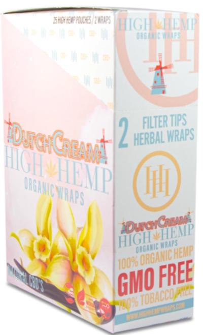 High Hemp Organic Wraps Dutch Cream 25Ct/2