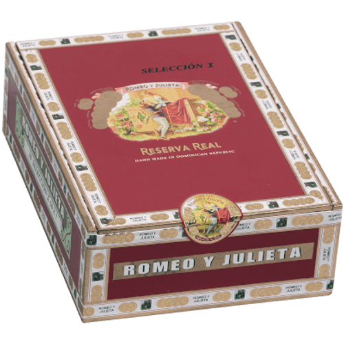 Romeo Y Julieta Reserva Real Seleccion Crystal Churchill 10 Ct. Glass Tubes Box 7.00x50