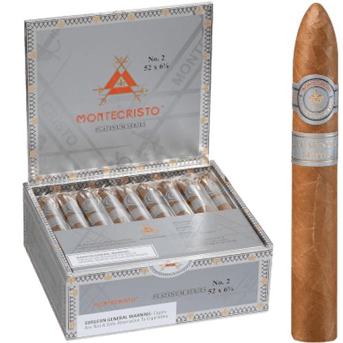 Montecristo Platinum No. 2 Belicoso 27 Ct. Box 6.12X52