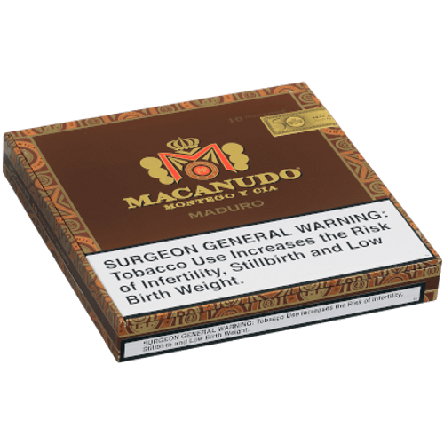 Macanudo Maduro Prince Philip Churchill 10 Ct. Box 7.50X49