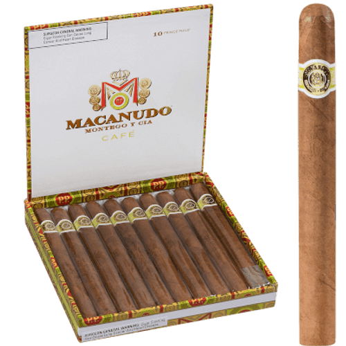 Macanudo Cafe Prince Philip Churchill 10 Ct. Box 7.50X49