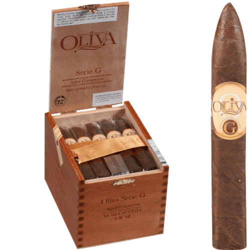 Oliva Serie G Cameroon Belicoso 25 Ct. Box 5.00X52