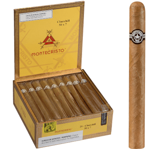 Montecristo Cigars Churchill Natural 25 Ct. Box