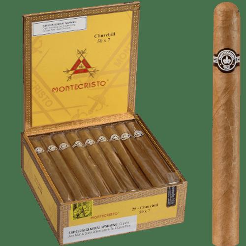 Montecristo Cigars Churchill Natural 25 Ct. Box