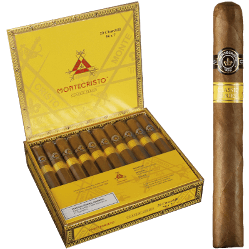 Montecristo Classic Collection Cigars Churchill 20 Ct. Box 7.00X54