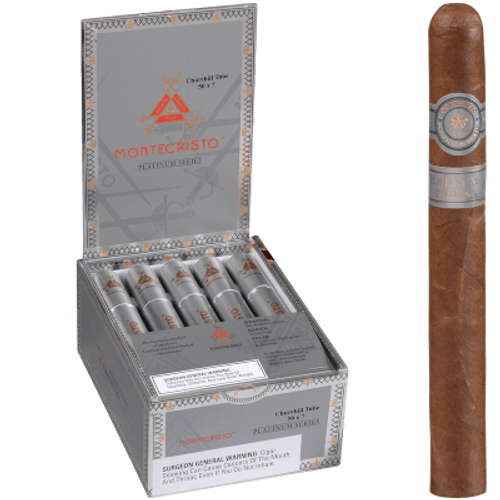 Montecristo Platinum Cigars Churchill Tube 15 Ct. Box 7.00X50