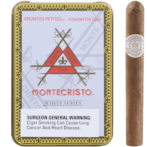 Montecristo White Prontos Petites Cigarillo 5/6 Tin 4.00X33
