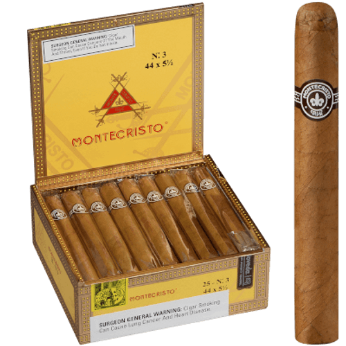 Montecristo No. 3 Natural Cigar Corona 25 Ct. Box 5.50X44