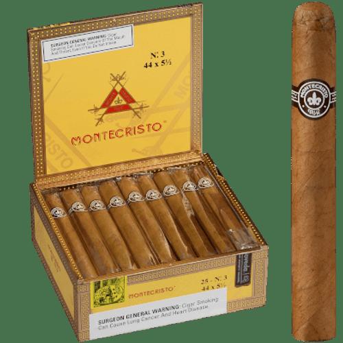 Montecristo No. 3 Natural Cigar Corona 25 Ct. Box 5.50X44