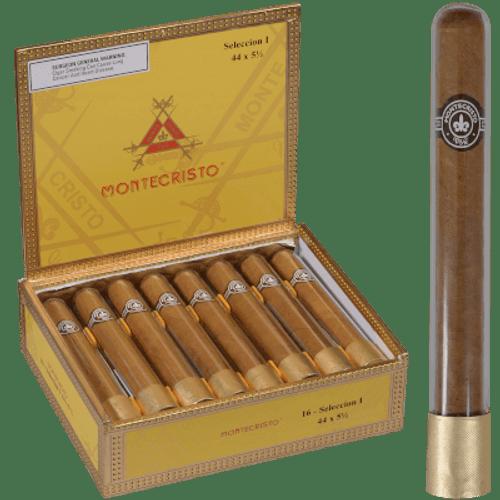 Montecristo Classic Seleccion I Tube Cigar Corona 16 Ct. Box 5.50X44.5