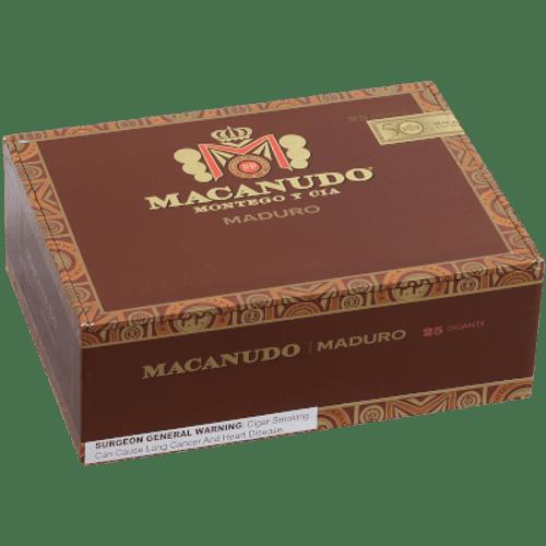 Macanudo Maduro Cigar Gigante 25 Ct. Box 6.00X60