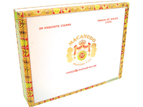 Macanudo Cafe Prince Of Wales Cigars Gigante 25 Ct. Box 8.00X52