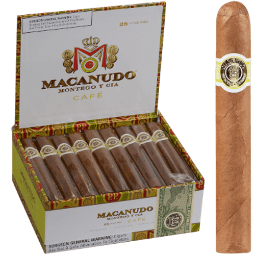 Macanudo Cafe Baron De Rothschild Cigar Lonsdale  25 Ct. Box 6.50X42