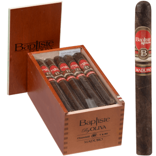 Baptiste by Oliva Cigars Churchill Maduro 20 Ct. Box 7.00X50