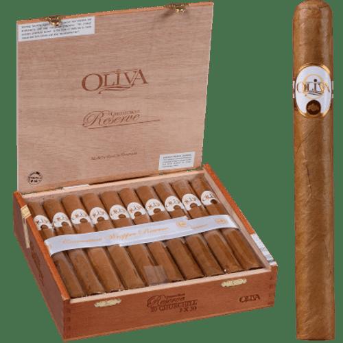 Oliva Connecticut Reserve Cigars Churchill 20 Ct. Box 7.00X50