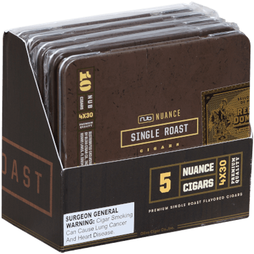 Nub Nuance Single Roast Cigars 5/10 Tins 4.00X30
