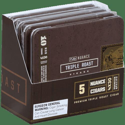 Nub Nuance Triple Roast Cigars 5/10 Tins 4.00X30